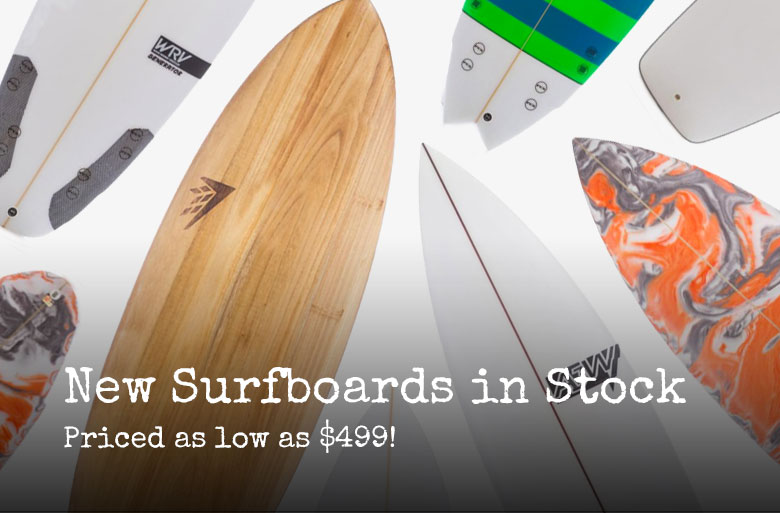 New surfboards in stock